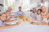 Family celebrating thanksgiving  — Stock Photo