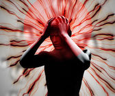 Digital body with headache — Stock Photo