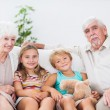 Stock Photo: Children with their grandparents