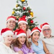 Happy family at christmas — Stock Photo #24112161