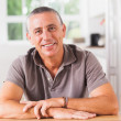 Happy man in kitchen — Stock Photo