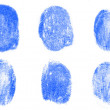 Blue fingerprints — Stockfoto