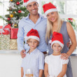 Family christmas portrait — Foto Stock
