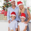 Family christmas portrait — Stockfoto #24113299