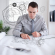Architect at work — Stock Photo