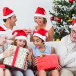 Royalty-Free Stock Photo: Family swapping christmas presents