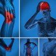 Stock Photo: Various body pain