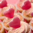 Close up of valentines cupcakes — Stock Photo