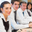 Smiling business team — Stock Photo