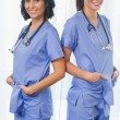Stock Photo: Smiling nurses