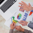 Business process analysts looking at research data — Stockfoto