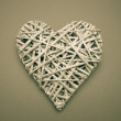 Stock Photo: Wicker heart