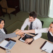 Businesswomen reaching agreement — Stock Photo