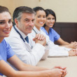 Stock Photo: Cheerful medical team