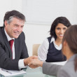 Two business shaking hands — Stock Photo