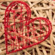 Stock Photo: Wicker heart ornament
