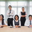 Stock Photo: Cheerful business team