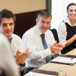 Stock Photo: Business clapping after a presentation