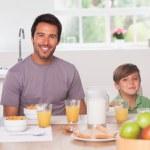 Family having breakfast — Stock Photo