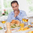 Msaying grace before dinner — Stockfoto #24117855