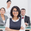Businesswoman and her team taking a break — Stock Photo