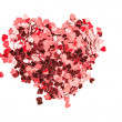 Valentines confetti - Stock Photo