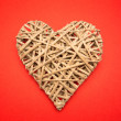 Wicker heart — Stock Photo