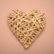 Wicker heart ornament — Stock Photo #24118341
