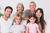 Tre generation familj — Stockfoto