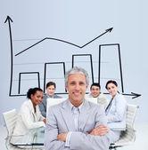 Empresário em uma reunião — Fotografia Stock