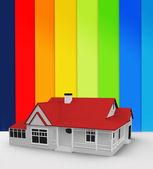 Digitally generated house — Stock Photo