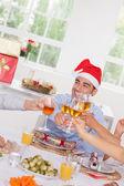 Family toasting at Christmas — Stock Photo