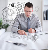 Architect at work — Foto Stock