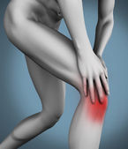 Knee pain — Foto Stock