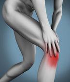 Schmerzen im knie — Stockfoto