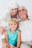 Portrait of grandparents and grandson — Stock Photo