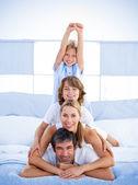 Jolly happy family having fun — Stock Photo