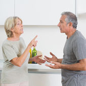 Wife arguing with her husband — Stock Photo