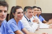 Smiling medical team — Stock Photo