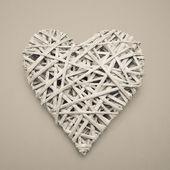 Wicker heart ornament — Stock Photo