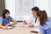 Nurses and doctors in a meeting — Stock Photo