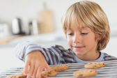 Boy taking a cookie — Stock Photo