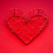 Ozdobne pudełko w kształcie serca — Zdjęcie stockowe