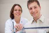Patent getting scale adjusted — Stock Photo