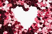 Odwrócony w kształcie serca w konfetti — Zdjęcie stockowe