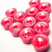 Pink tea light candles — Stock Photo