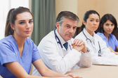Panel of medical workers — Stock Photo