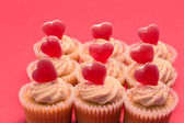 Valentines day cupcakes — Stock Photo