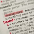 Brand definition — Stock Photo