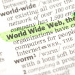 Stockfoto: World Wide Web definition highlighted in green